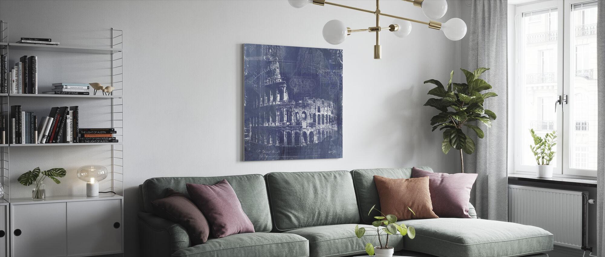Rome Blueprint - Canvas print - Living Room