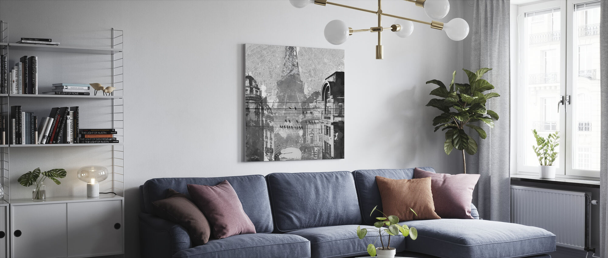 Pariisin linnut - Canvastaulu - Olohuone