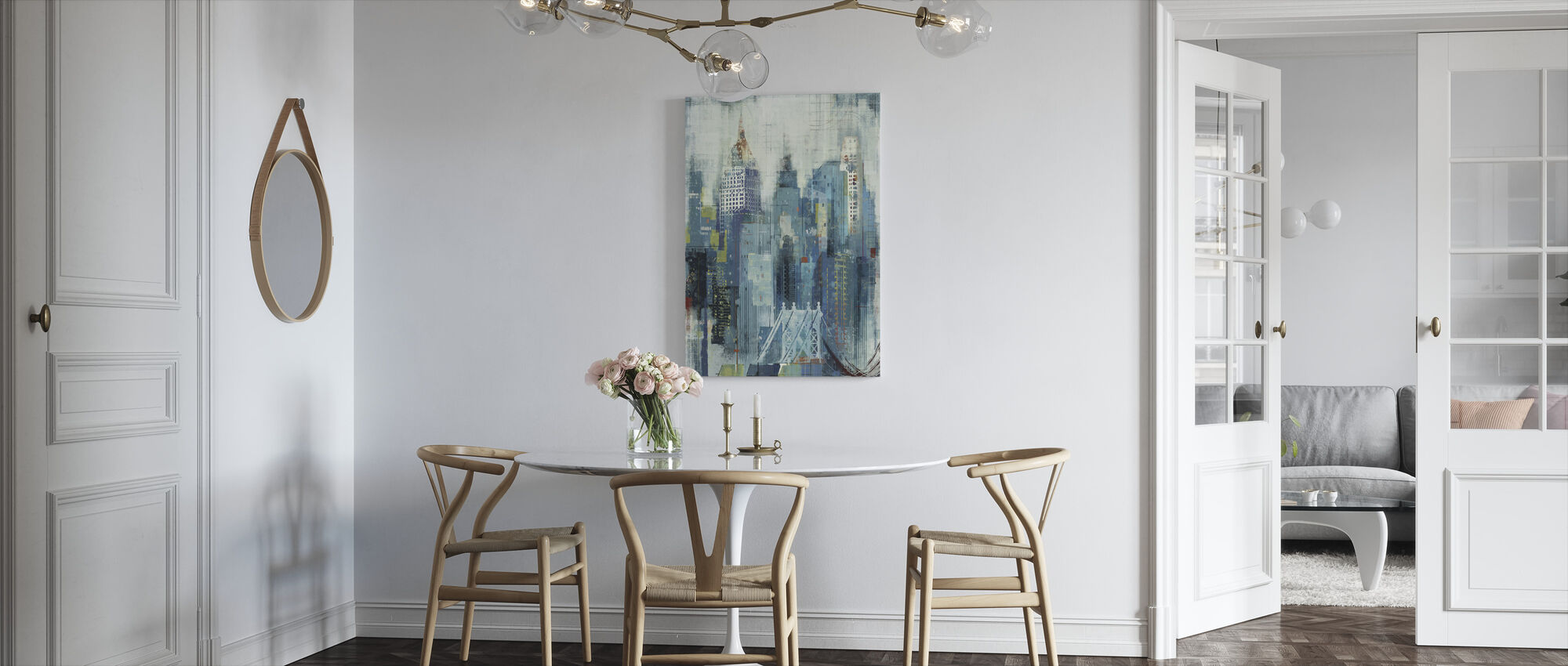New York Skyline kunstwerk - Canvas print - Keuken