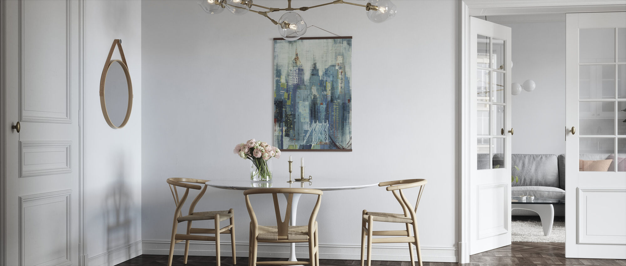 New York Skyline -taideteoksia - Juliste - Keittiö