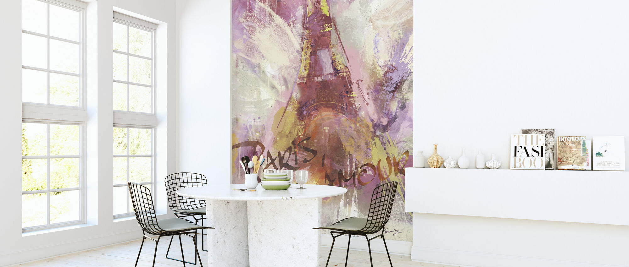 Paris Mon Amour - Wallpaper - Kitchen