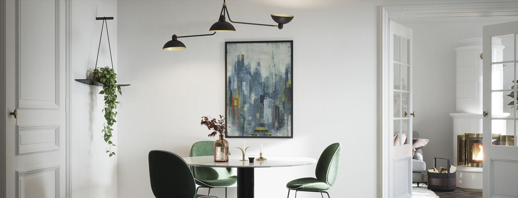 San Francisco Skyline Art - Innrammet bilde - Kjøkken