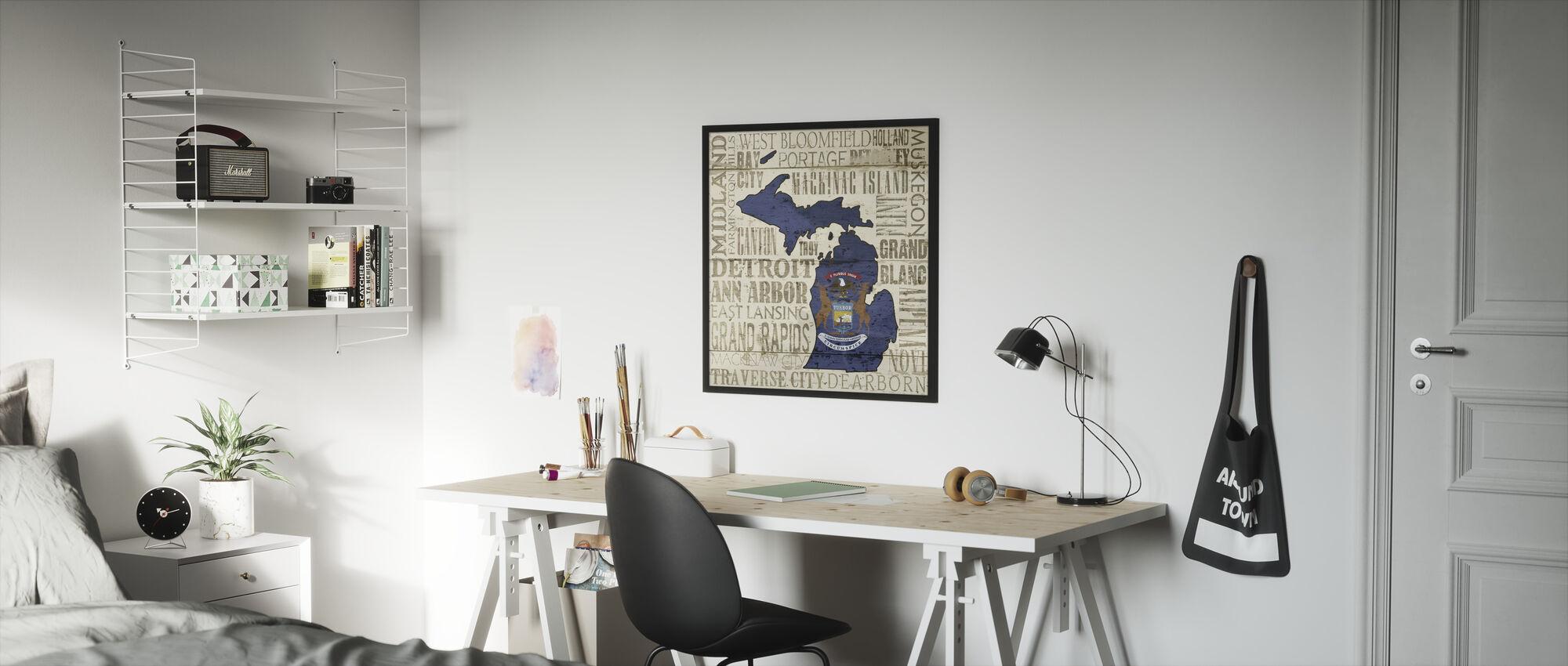 Michigan State - Framed print - Kids Room