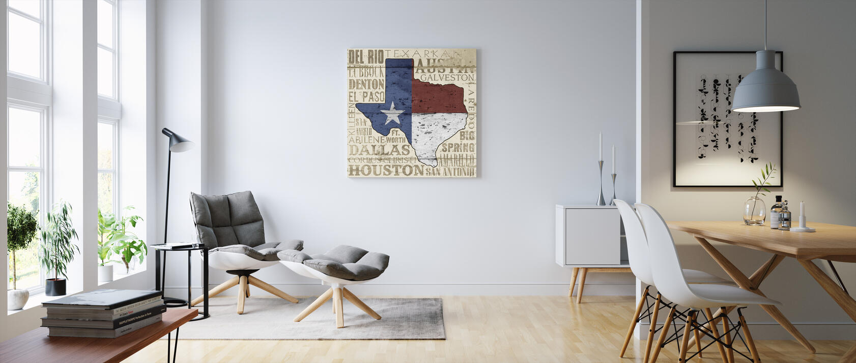 texas state impression sur toile en ligne pas cher photowall. Black Bedroom Furniture Sets. Home Design Ideas