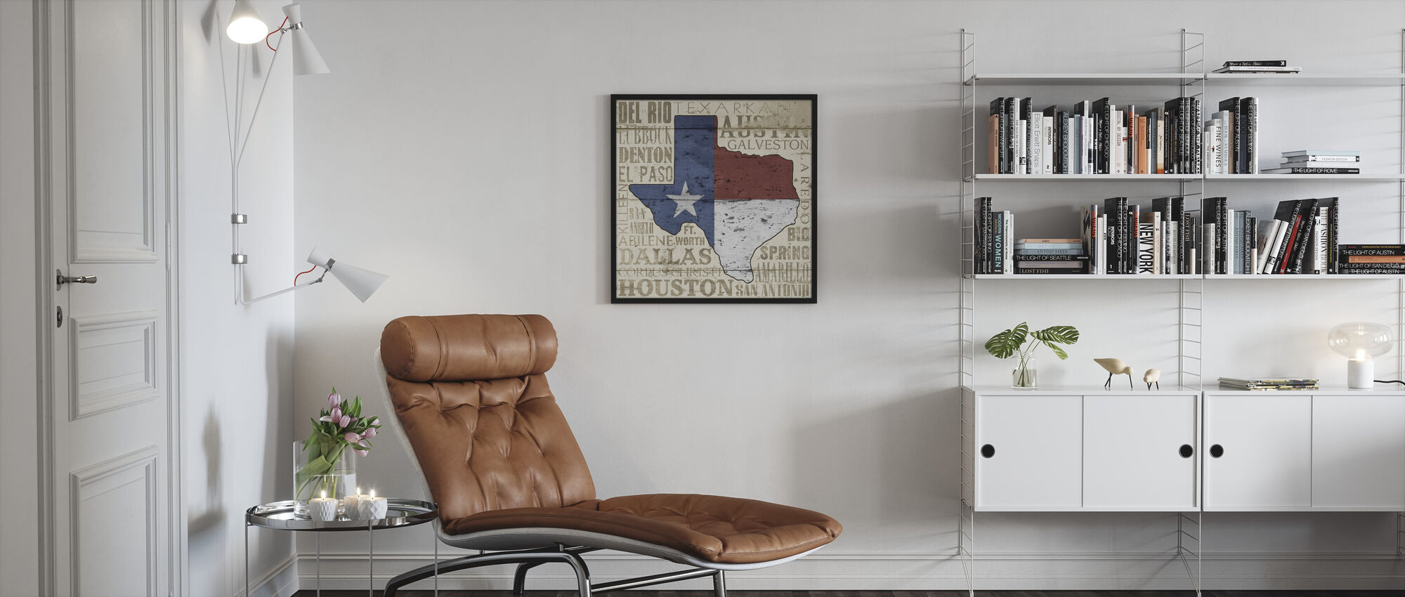 Texas State - Framed print - Living Room