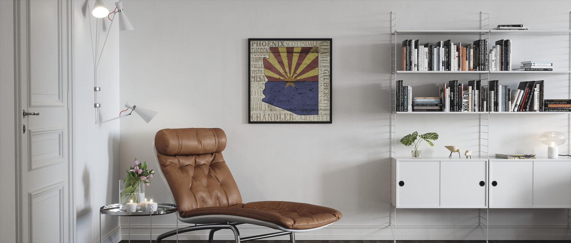 Arizona (staat) - Ingelijste print - Woonkamer