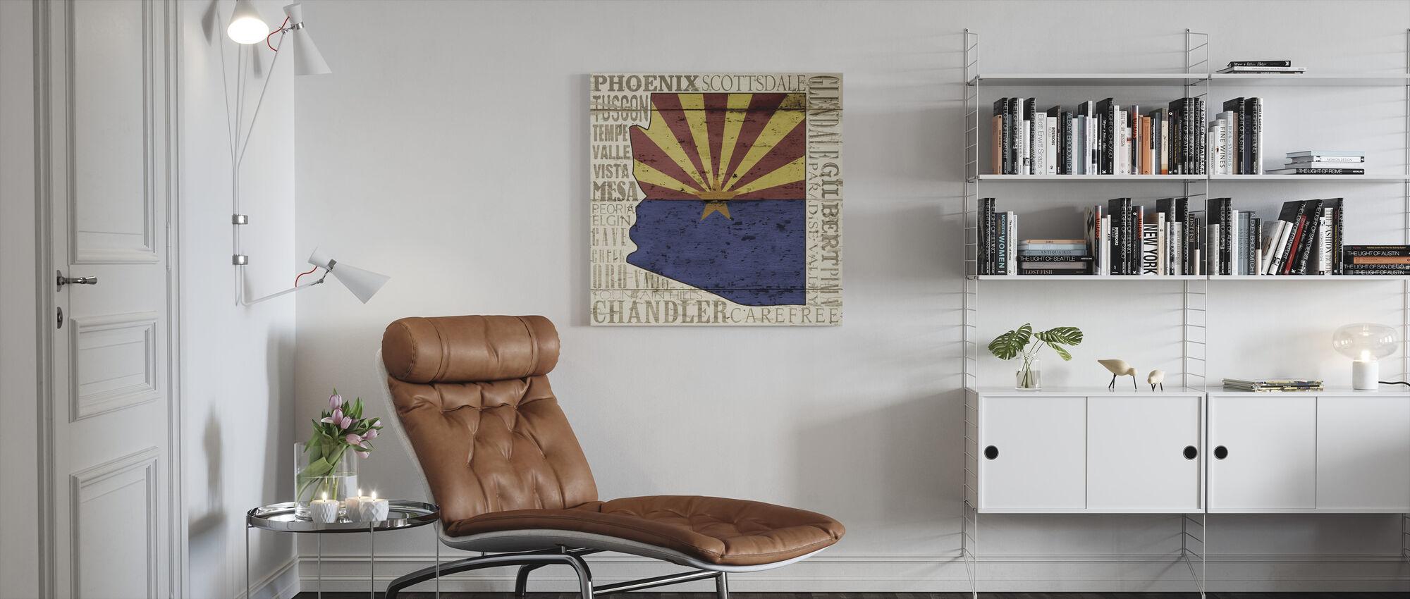 Arizonan osavaltio - Canvastaulu - Olohuone