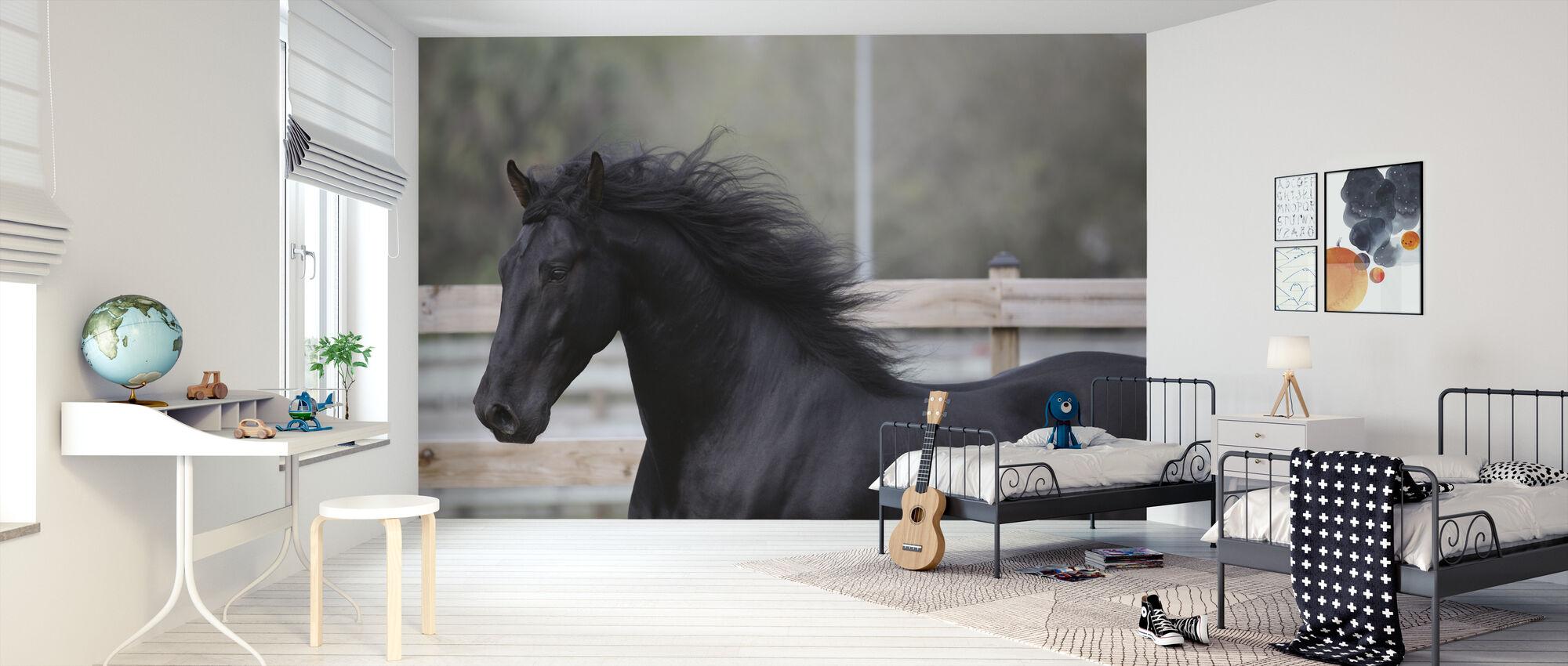 Hest Vinder - Tapet - Børneværelse