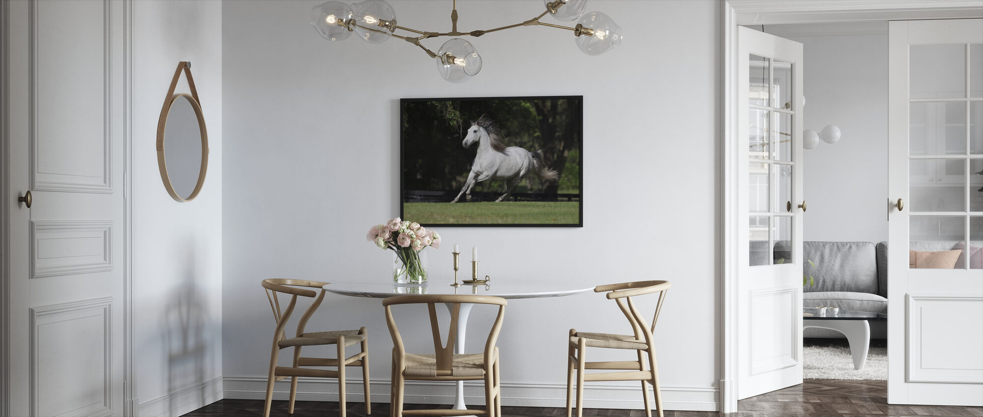 White Andalusian - Framed print - Kitchen