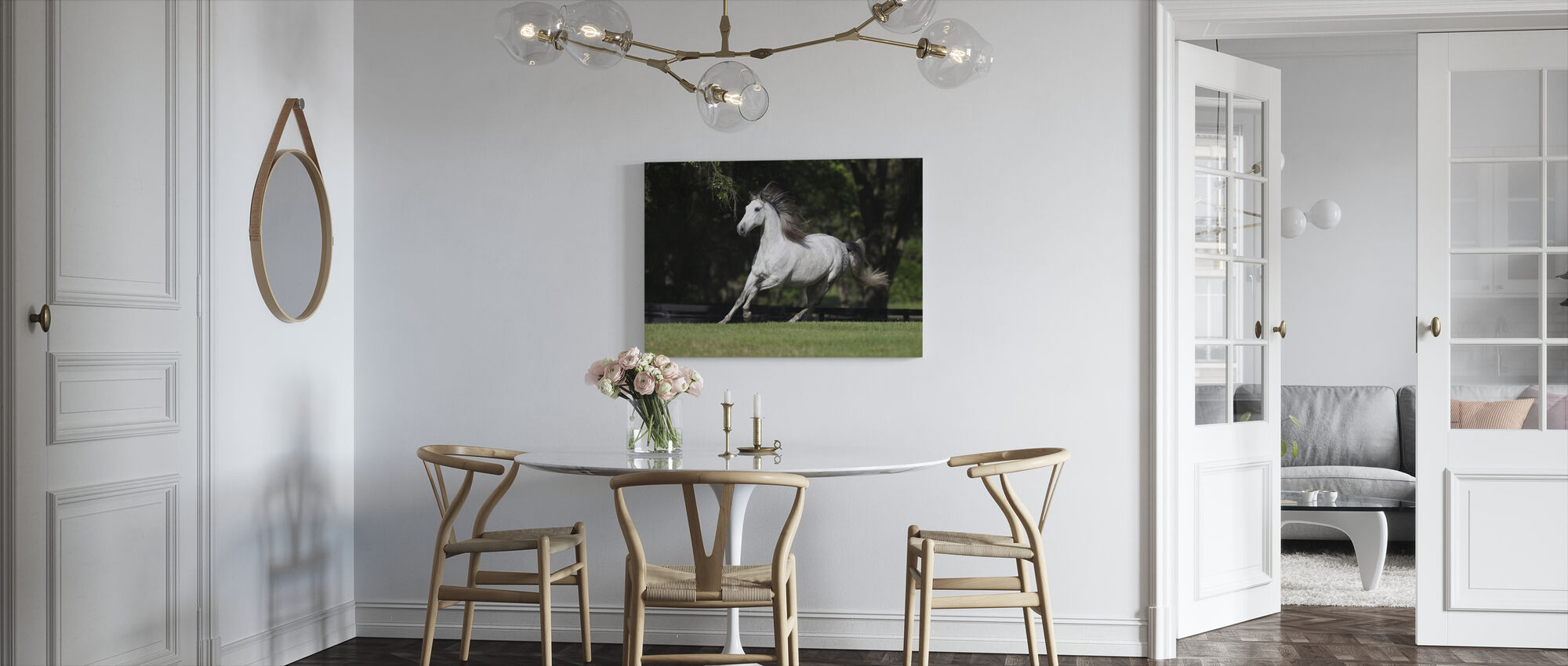 White Andalusian - Canvas print - Kitchen