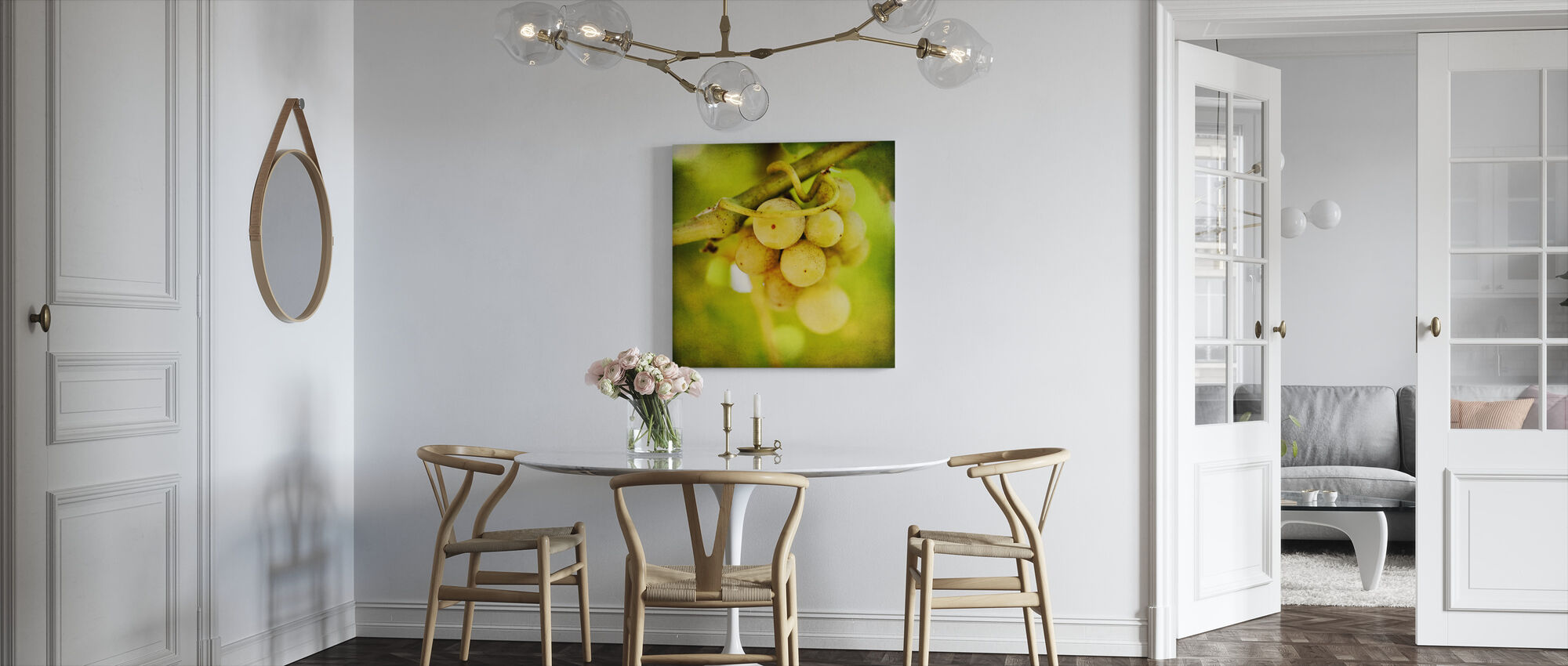 Spring Grapes - Canvas print - Kitchen