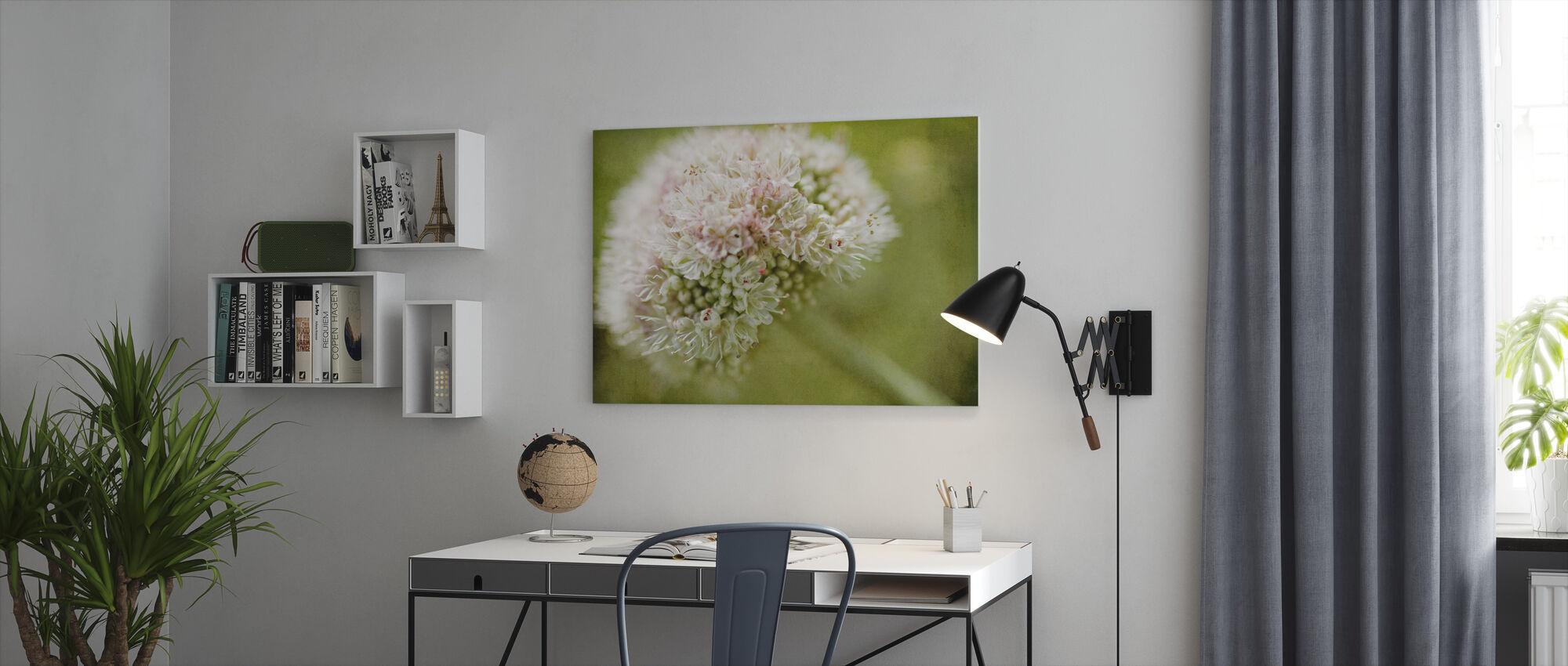 Vintage Pink Flower - Canvas print - Office
