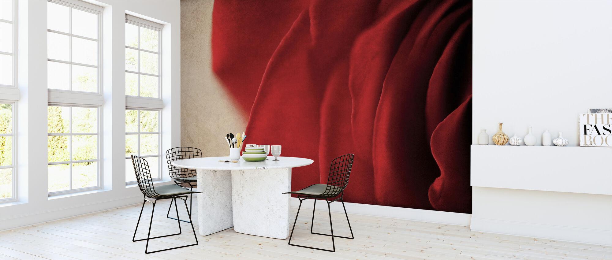 Vintage Rote Rose - Tapete - Küchen