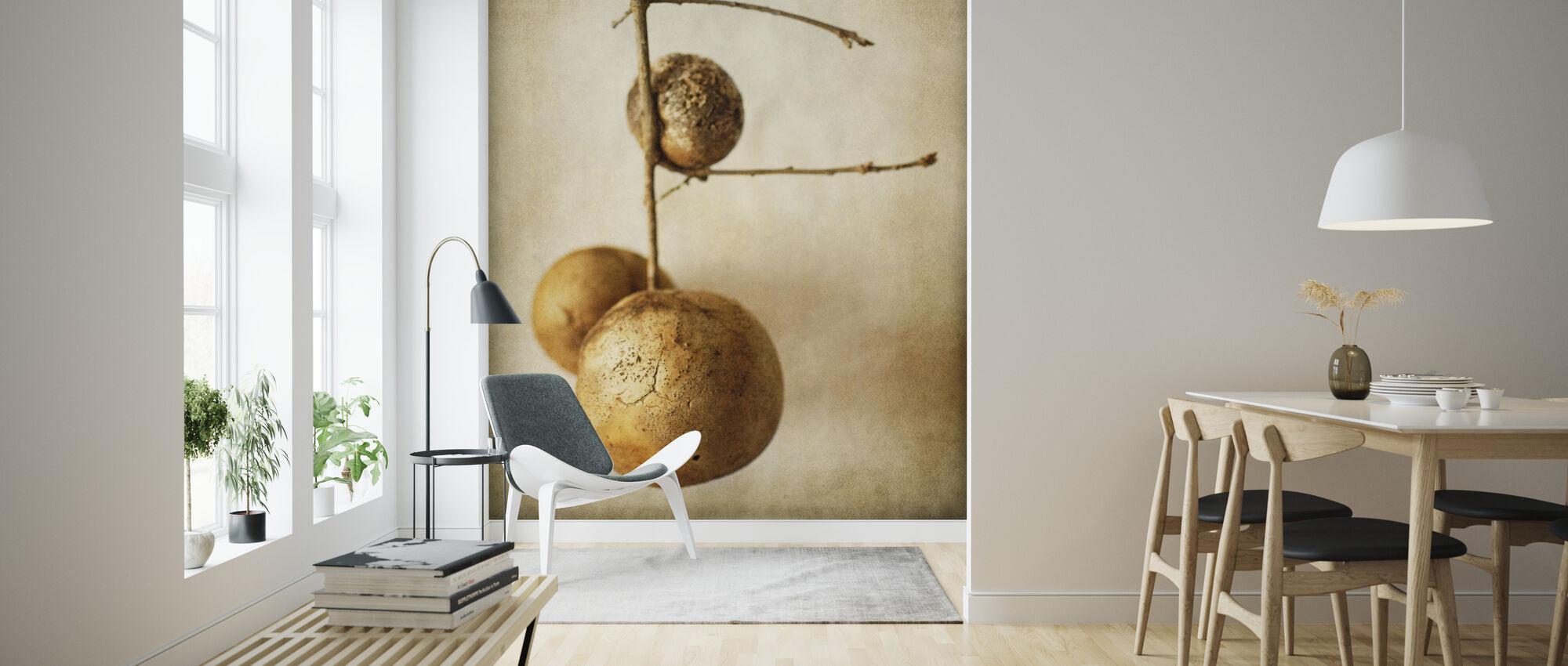 Vintage Oak Pods - Wallpaper - Living Room