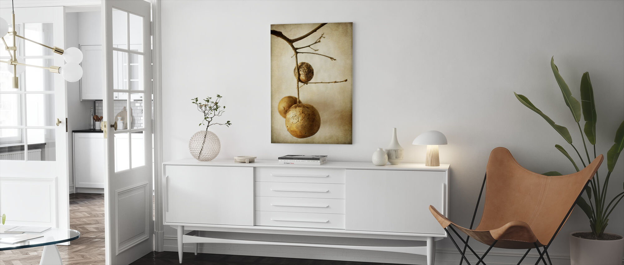 Vintage Oak Pods - Canvas print - Living Room