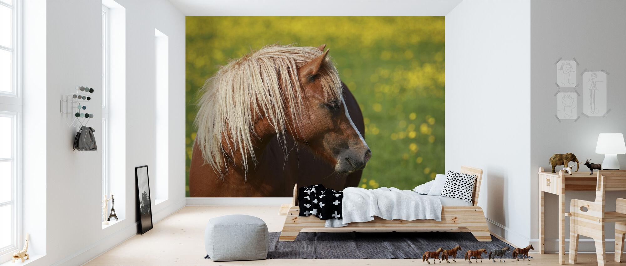 Hevosen profiili - Tapetti - Lastenhuone