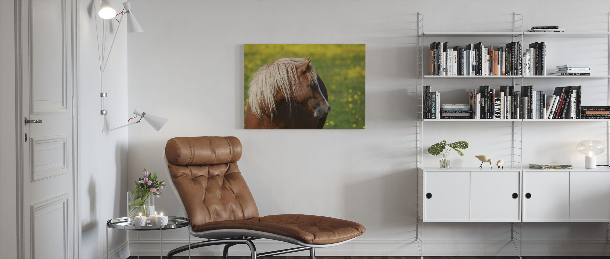 Hevosen profiili - Canvastaulu - Olohuone