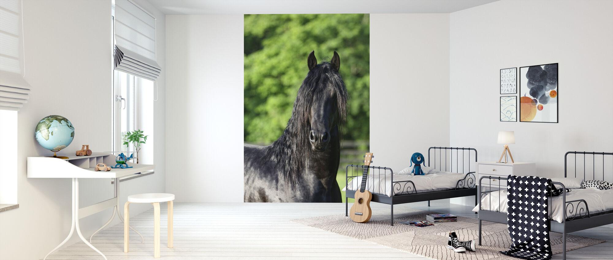 Friesian Horse - Wallpaper - Kids Room