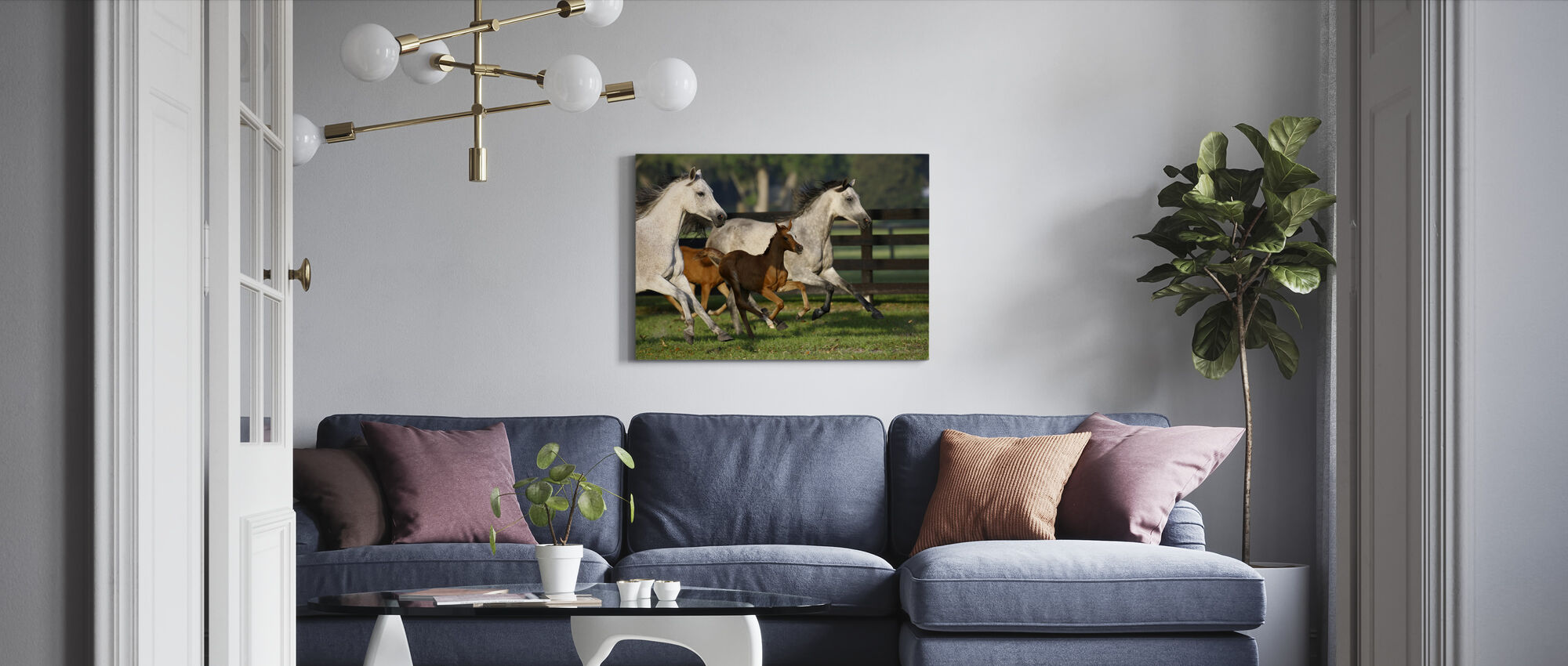 Hennessy Arabians - Canvas print - Living Room