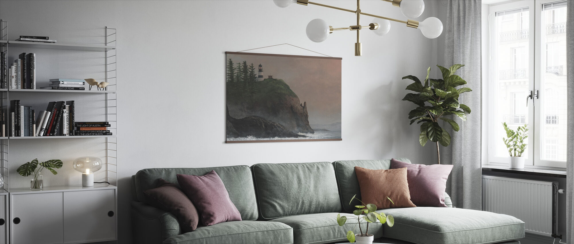Cape Disappointment Light - Poster - Living Room