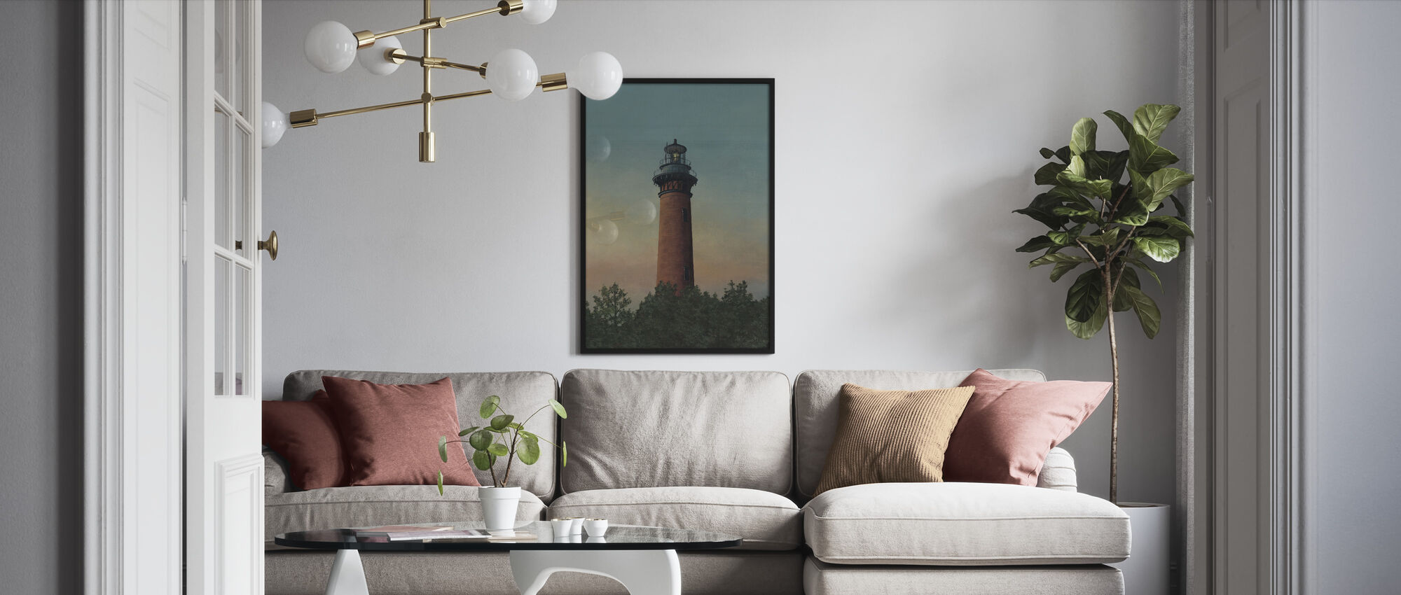 Currituck Beach Lighthouse - Framed print - Living Room