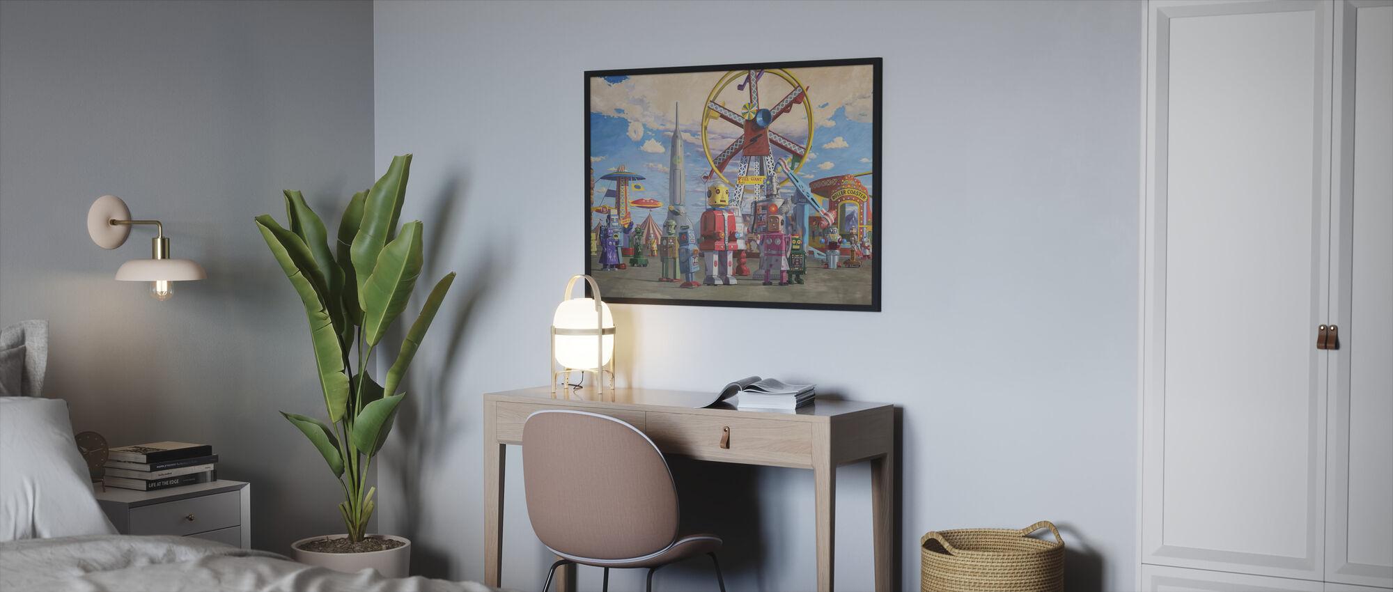 Fairgrounds - Ingelijste print - Slaapkamer