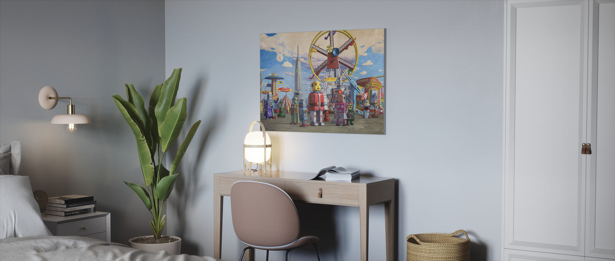 Fairgrounds - Canvas print - Office