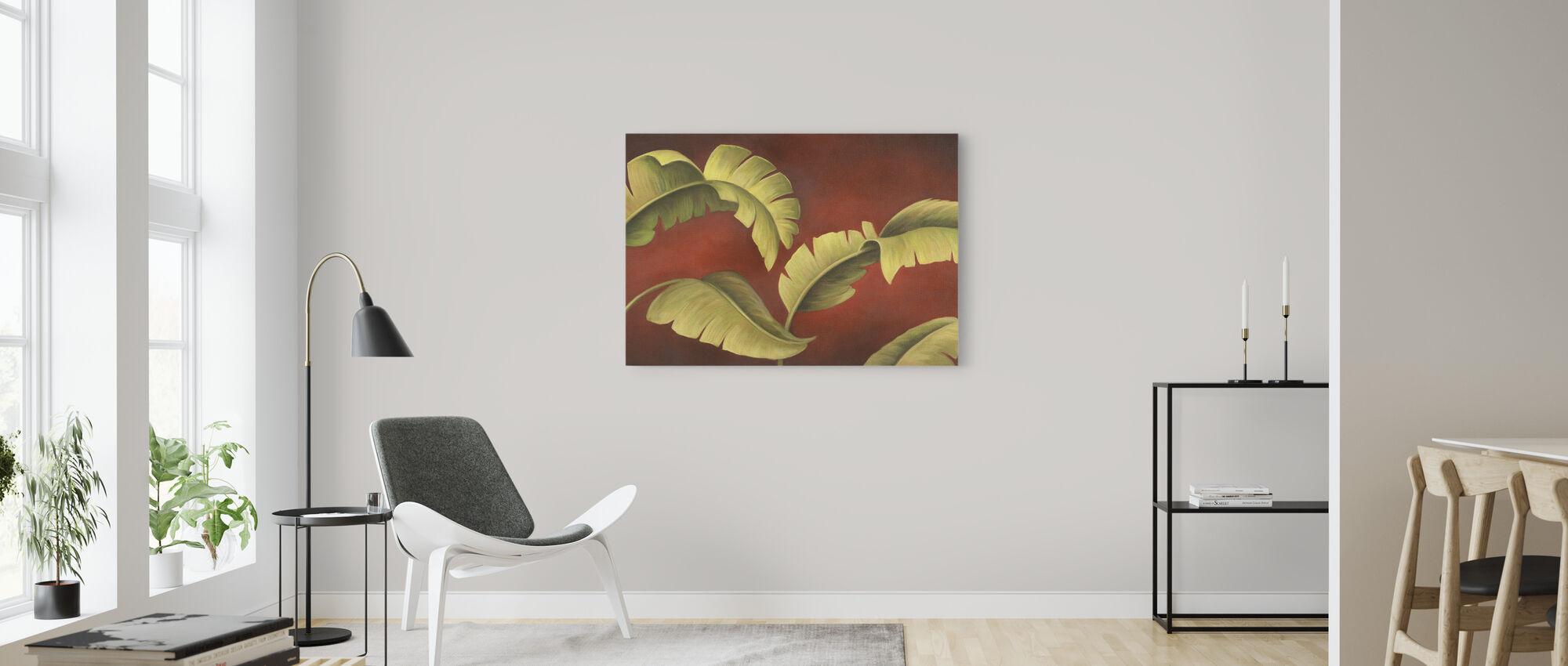 Palms na Burgundii - Obraz na płótnie - Pokój dzienny