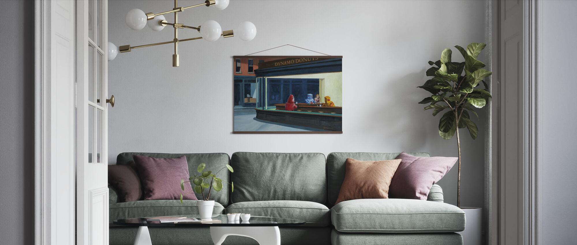 Robo Falken - Poster - Wohnzimmer
