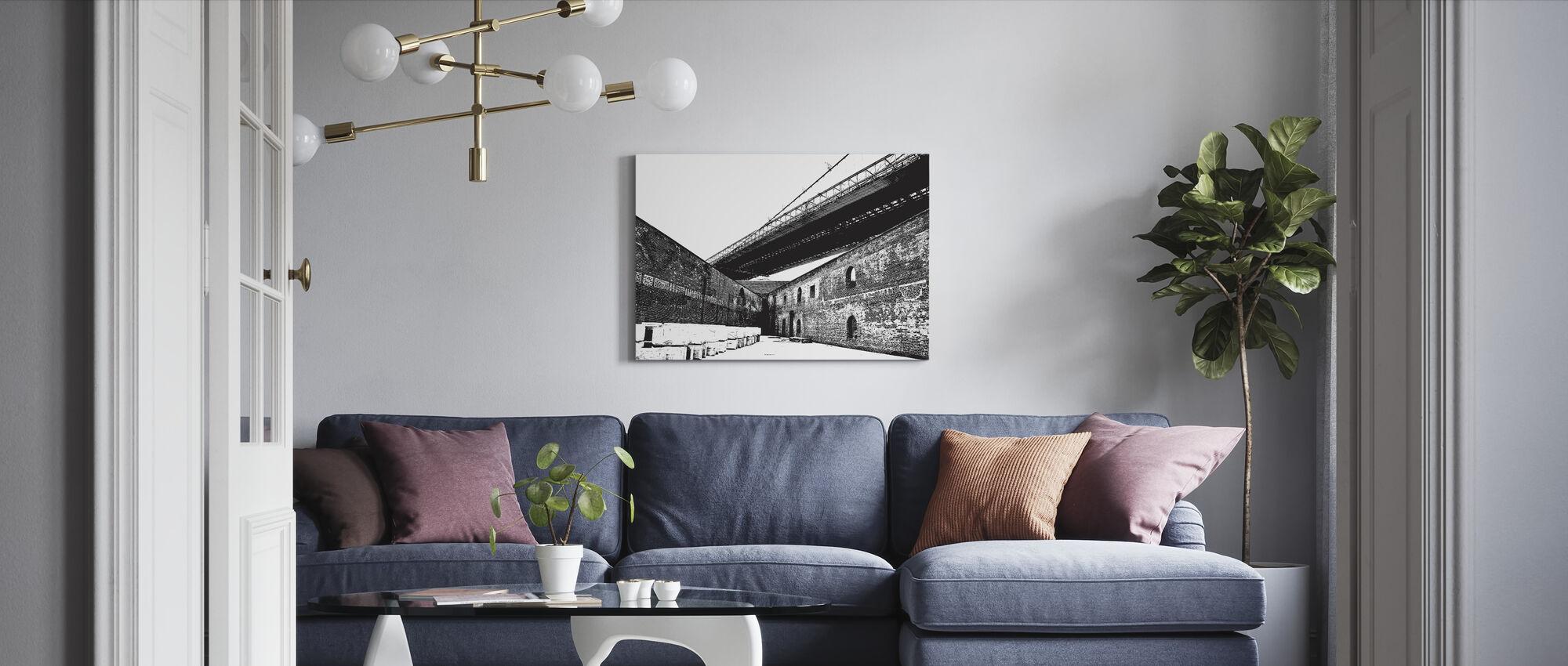 Structuur - Canvas print - Woonkamer