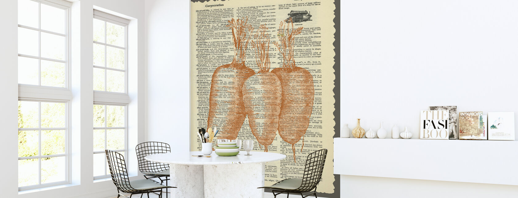 Carrots and Text - Wallpaper - Kitchen