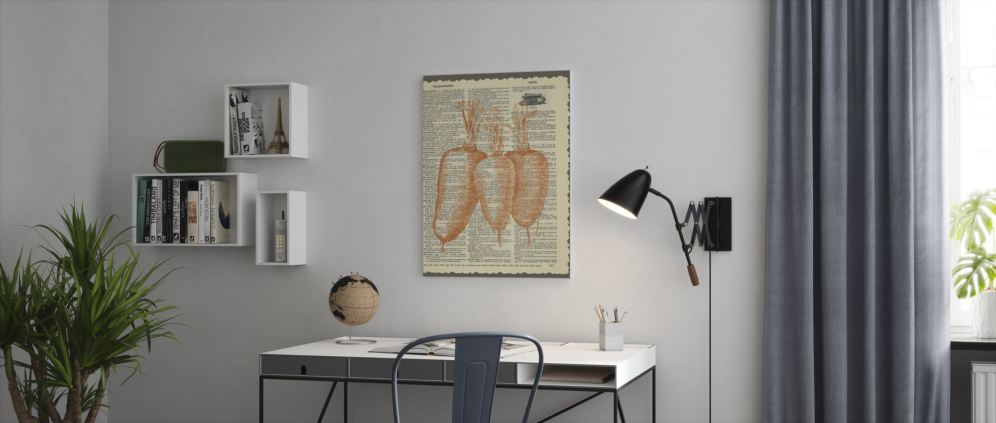 Carrots and Text - Canvas print - Office