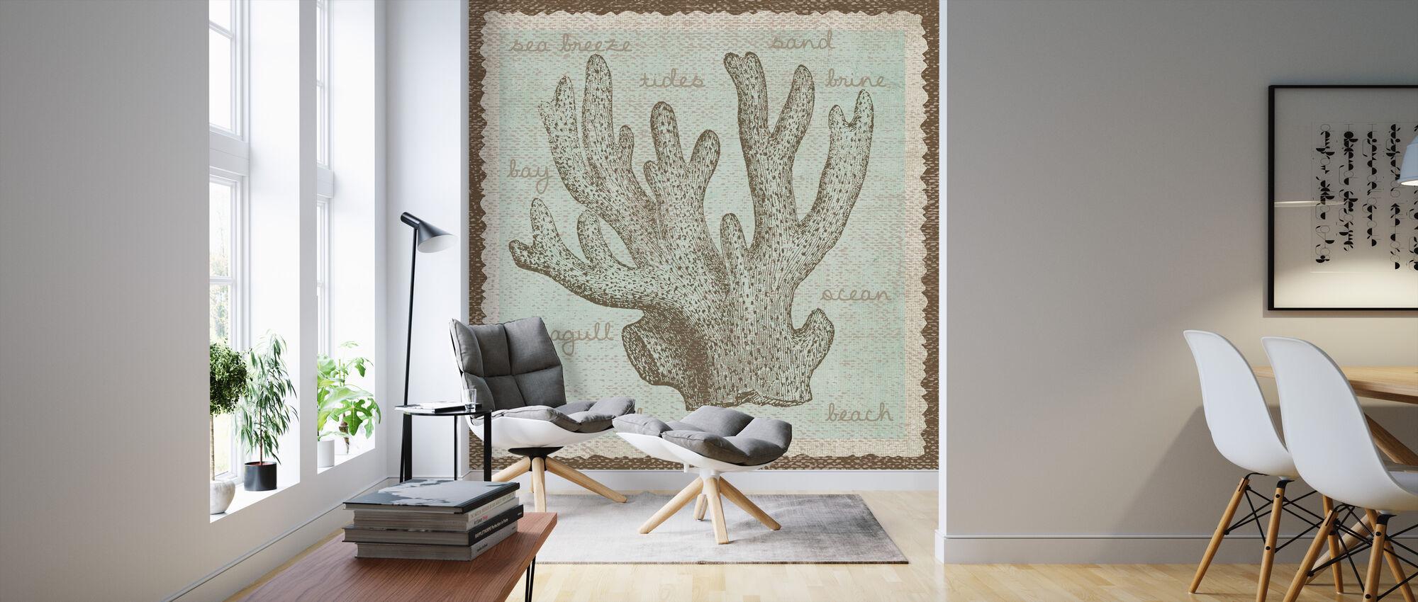 Coral Art - Wallpaper - Living Room