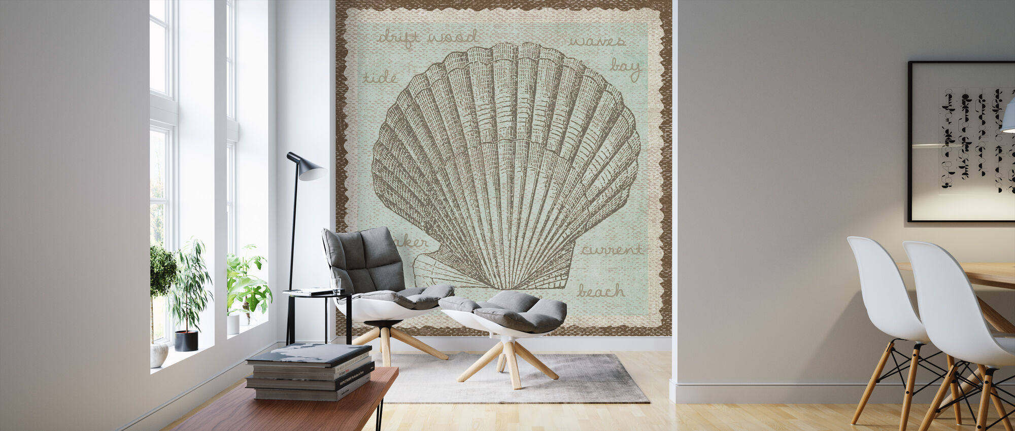 Shell Art - Wallpaper - Living Room