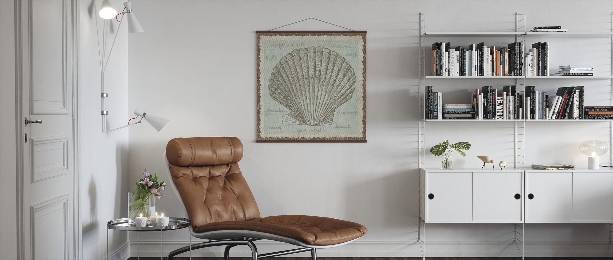 Shell Kunst - Poster - Woonkamer