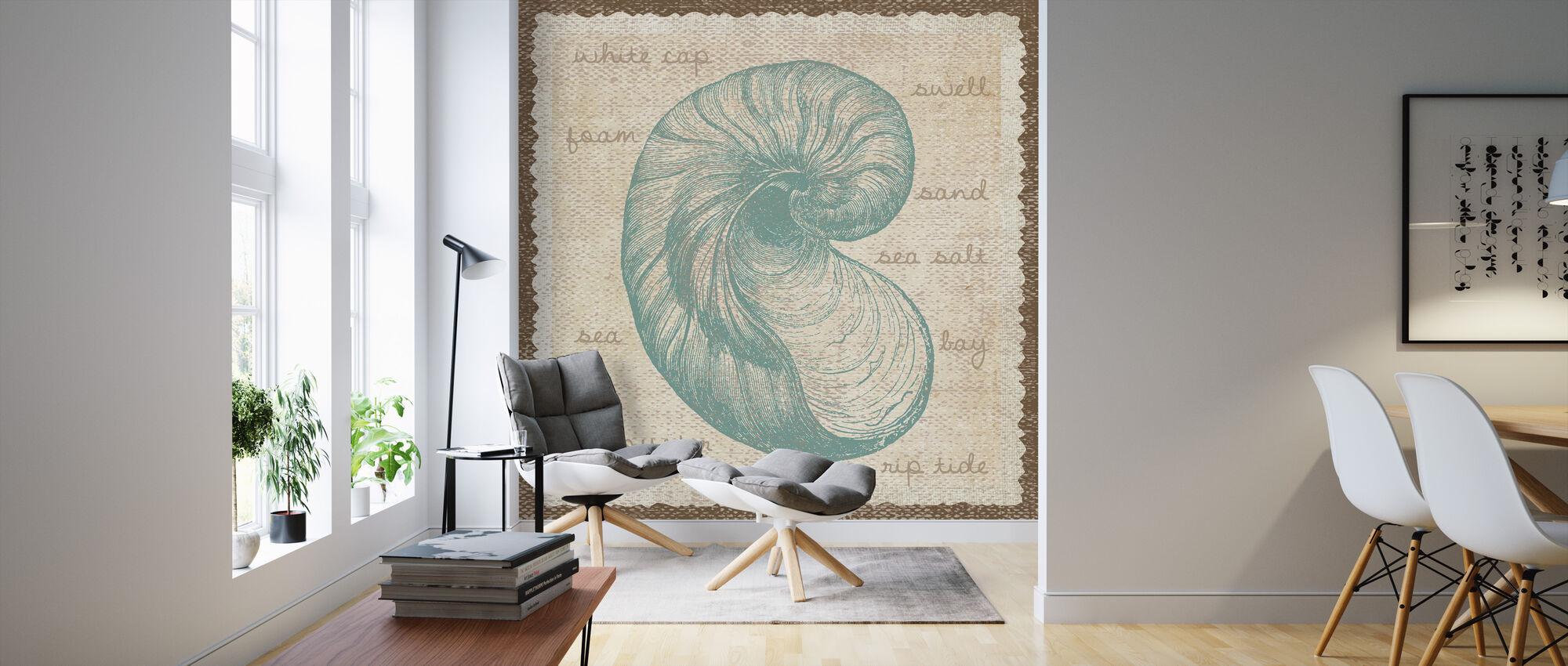 Oyster Art - Wallpaper - Living Room