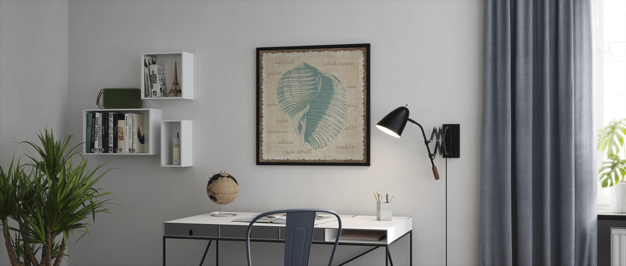 Shell and Text - Framed print - Office