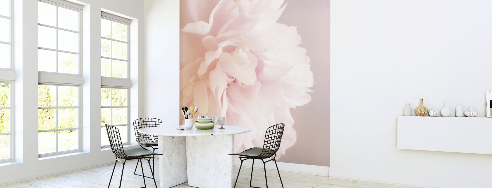 Light Pink Peony - Wallpaper - Kitchen