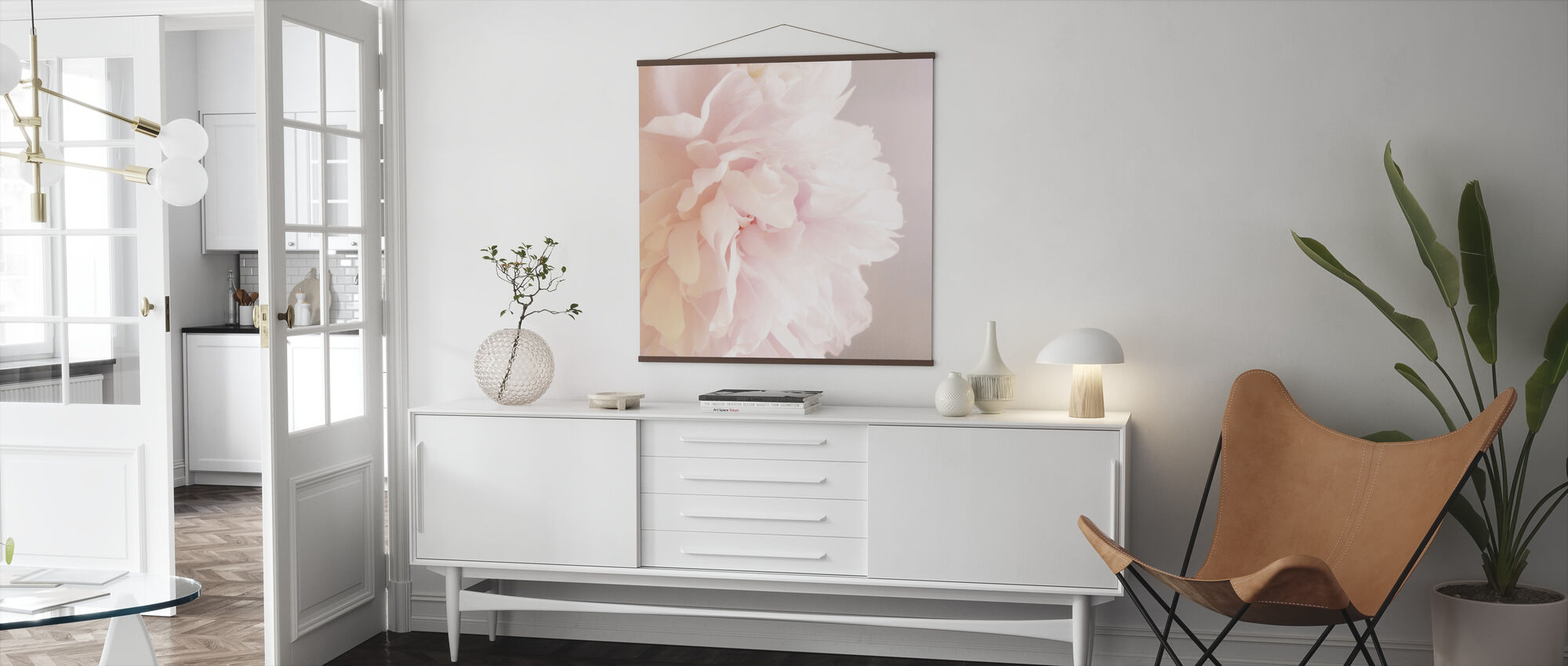 Light Pink Peony - Poster - Living Room