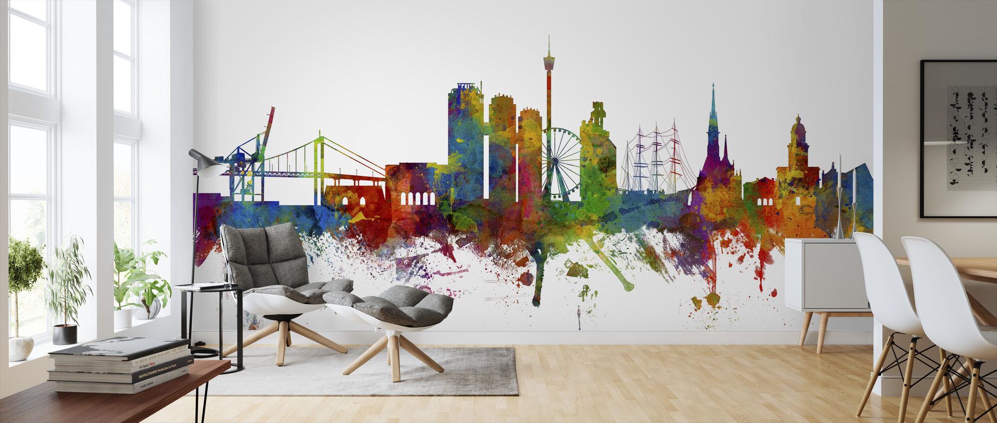Göteborg Skyline - Wallpaper - Living Room
