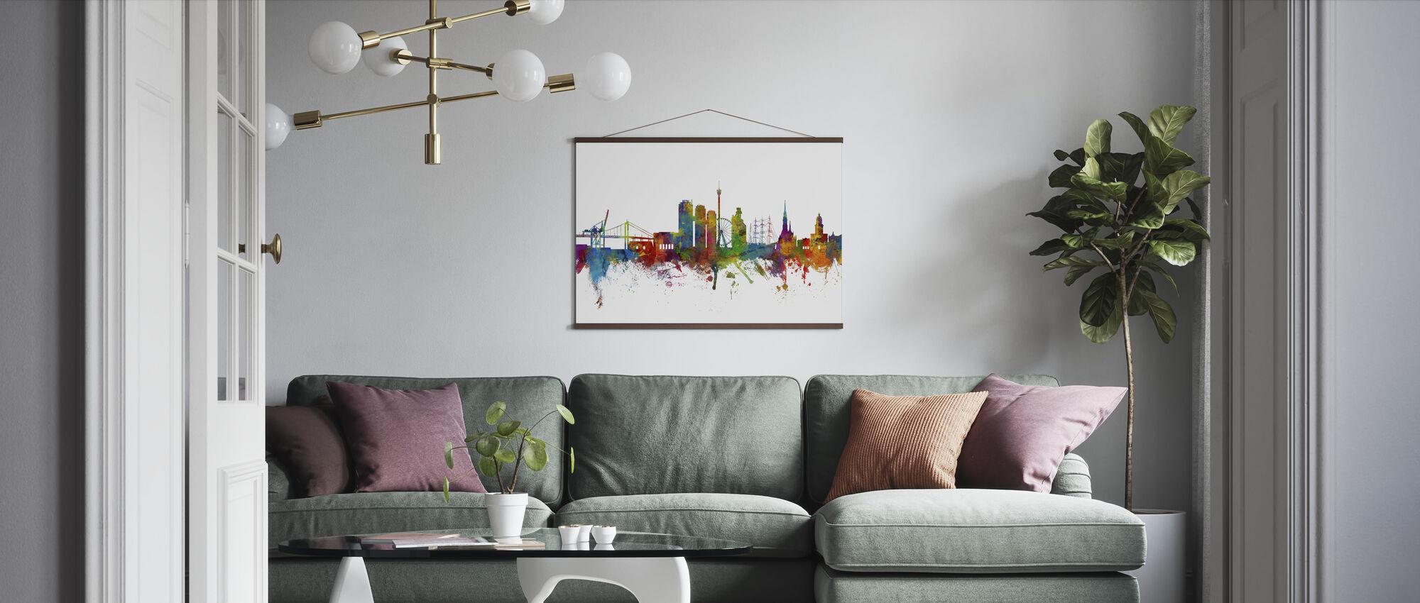 Göteborg Skyline - Plakat - Stue