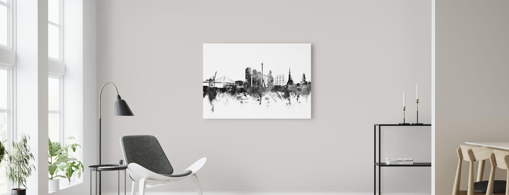 Svart och vit canvas