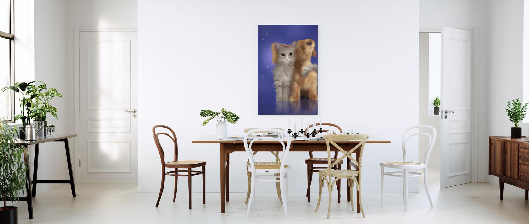 puppy love impression sur toile en ligne pas cher photowall. Black Bedroom Furniture Sets. Home Design Ideas