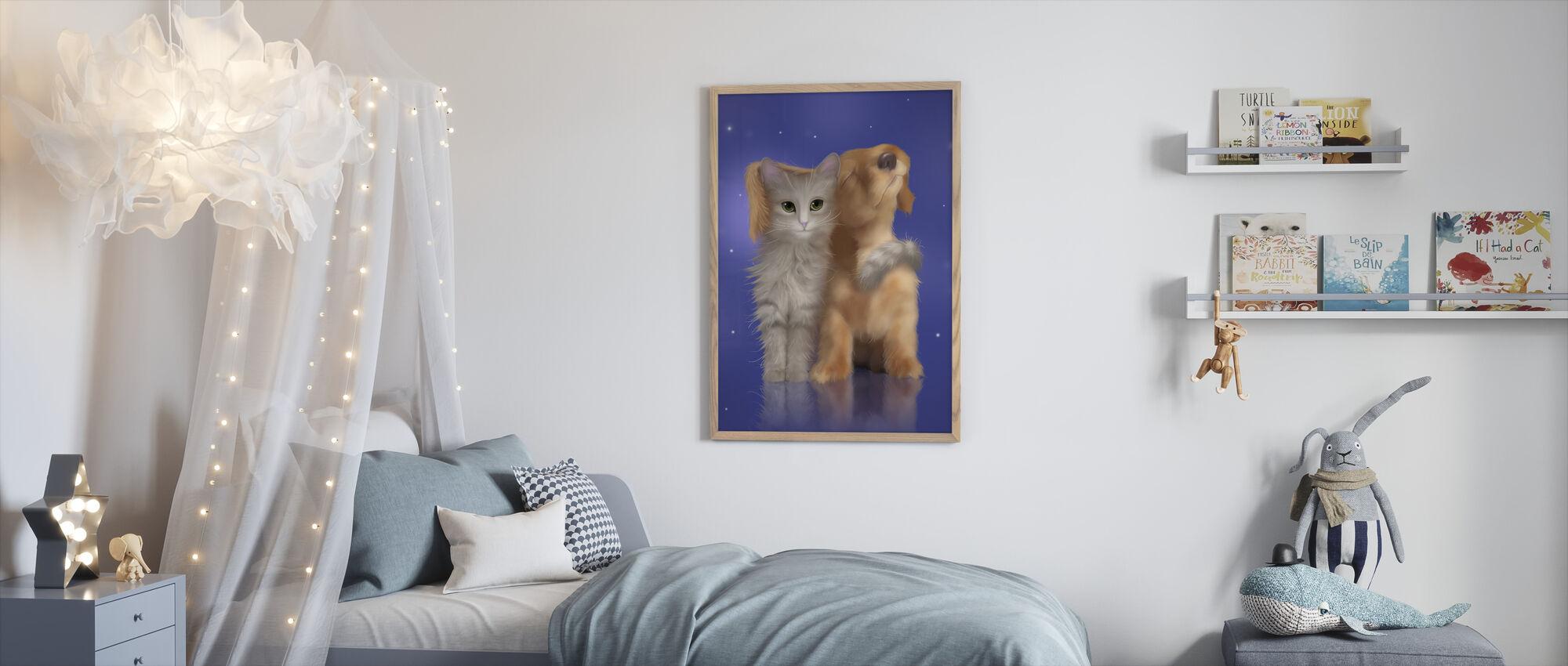 Puppy Love - Framed print - Kids Room