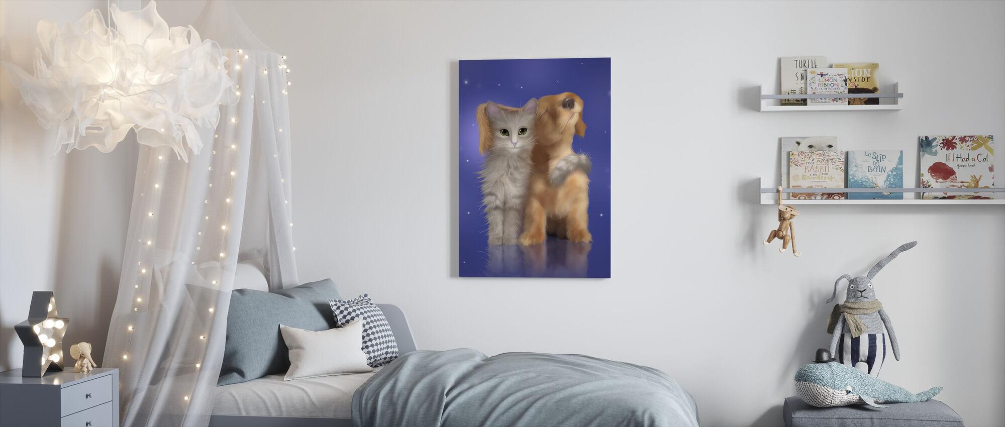 Puppy Liefde - Canvas print - Kinderkamer