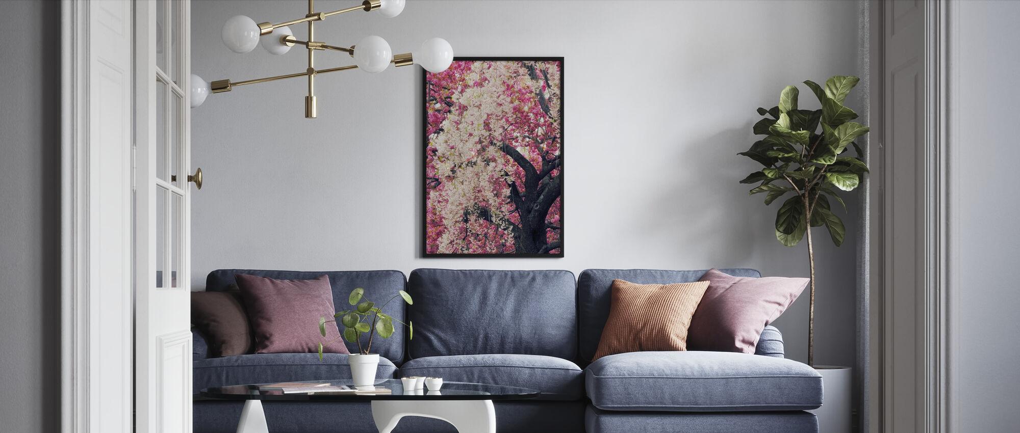 Asian Cherry - Framed print - Living Room