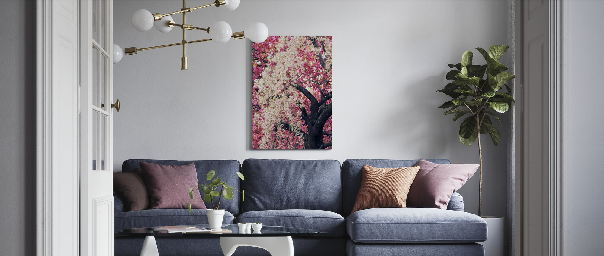 Asian Cherry - Canvas print - Living Room
