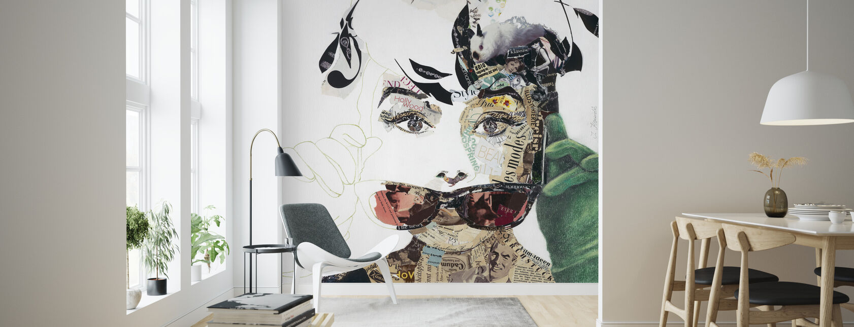 Breakfast at Tiffany's - Collage - Wallpaper - Living Room