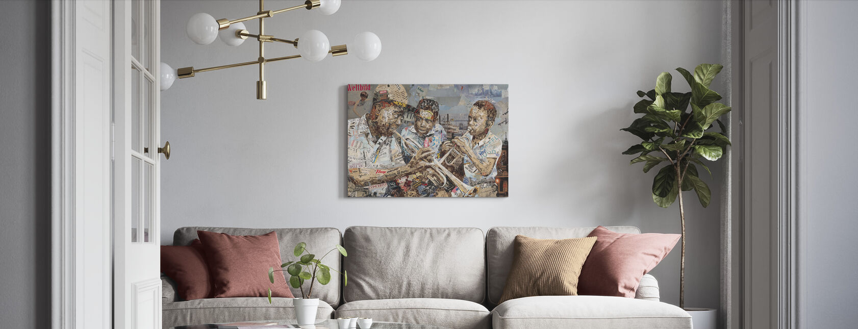 Blues Jongens - Canvas print - Woonkamer