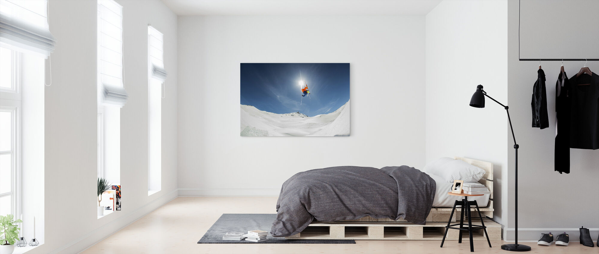 Alleen backcountry Kicker lokale bevolking - Canvas print - Slaapkamer